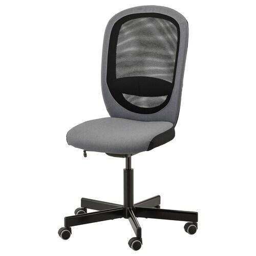 FLINTAN krzesło biurowe Vissle szary 110 kg 74 cm 69 cm 102 cm 114 cm 47 cm 48 cm 47 cm 60 cm