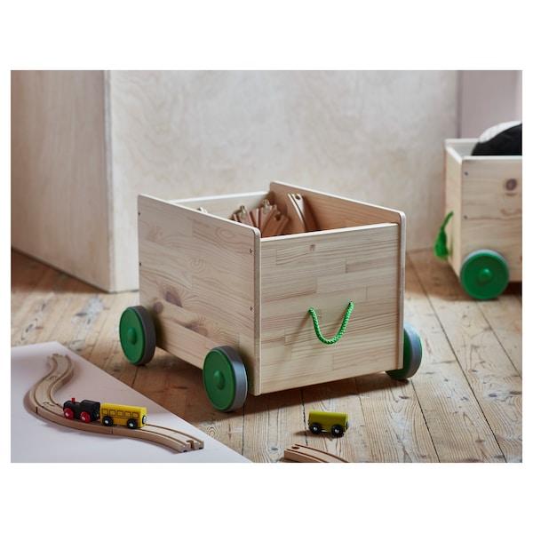 FLISAT Schowek na zabawki na kółkach