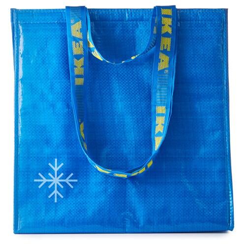 FRAKTA torba termiczna niebieski 38 cm 20 cm 40 cm