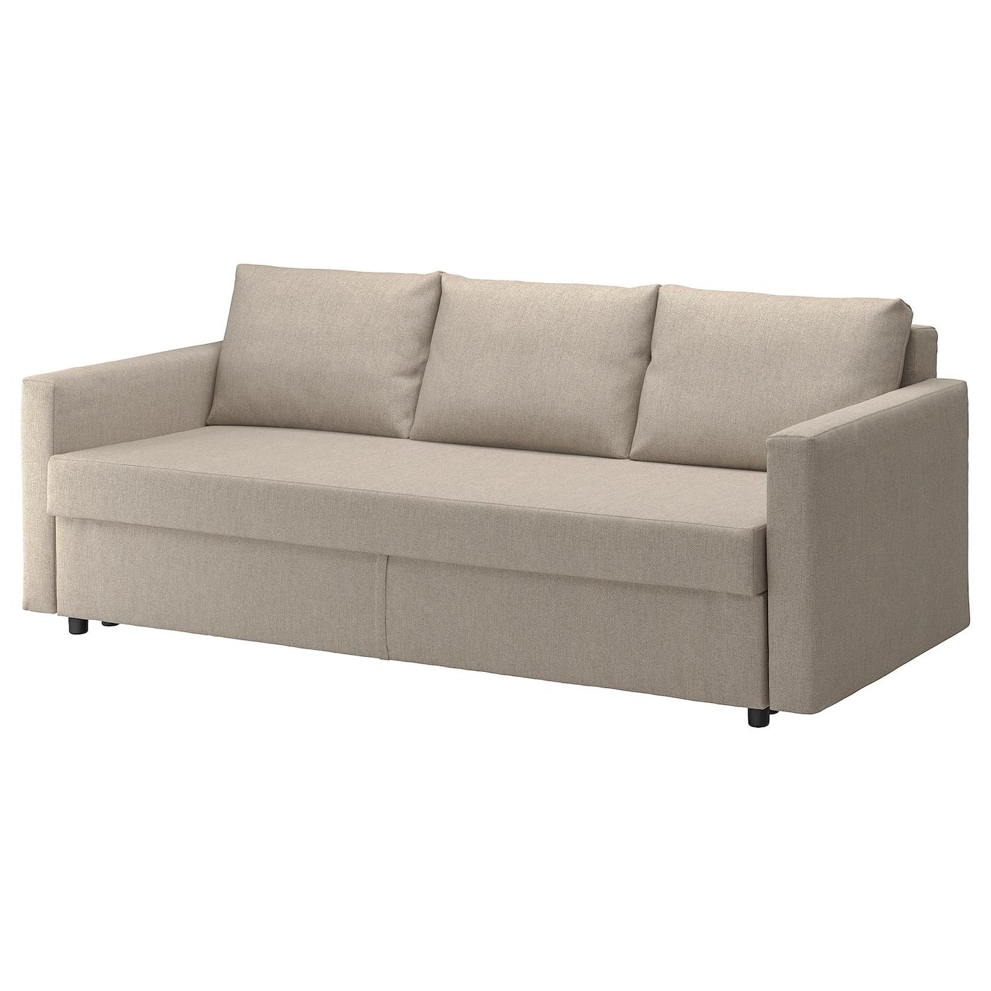 IKEA FRIHETEN Rozkładana sofa 3-osobowa, Hyllie beżowy