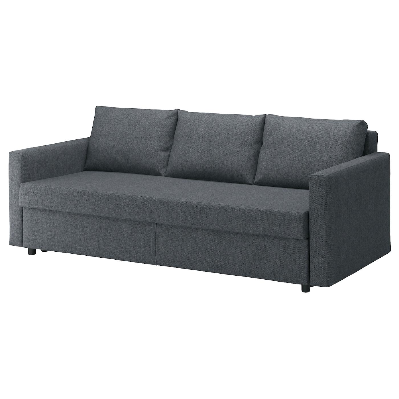 IKEA FRIHETEN Rozkładana sofa 3-osobowa, Hyllie ciemnoszary