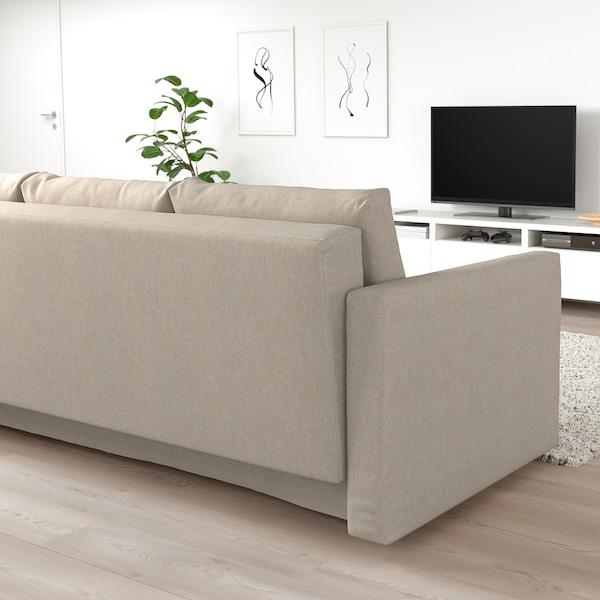 FRIHETEN Rozkładana sofa 3-osobowa, Hyllie beżowy