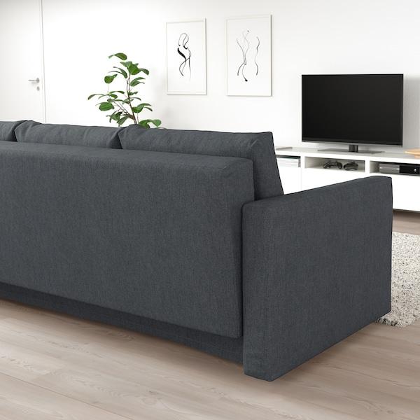 FRIHETEN Rozkładana sofa 3-osobowa, Hyllie ciemnoszary