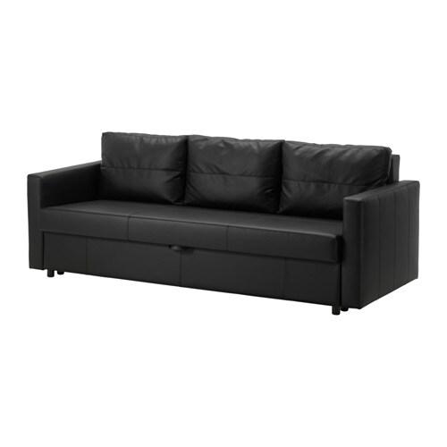 Friheten Sofa Trzyosobowa Rozkładana Bomstad Czarny Ikea