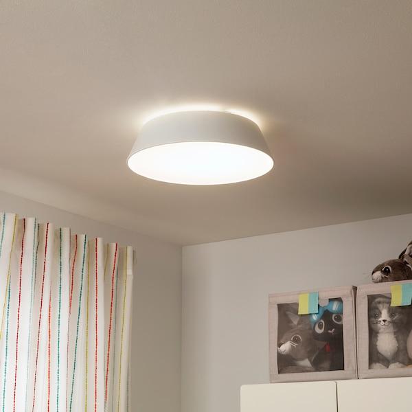 FUBBLA lampa sufitowa LED biały 13 Wat 10 cm 35 cm