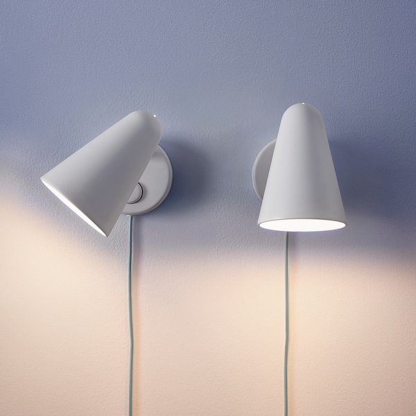FUBBLA lampa ścienna LED biały 3.4 Wat 200 lm 10 cm 20 cm 15 cm 170 cm