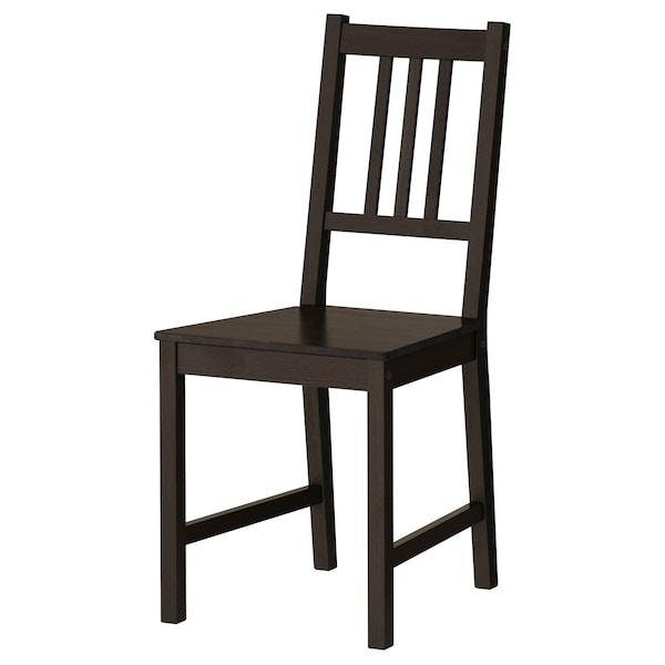 GAMLARED / STEFAN Stół i 2 krzesła, bejca jasna patyna/brązowoczarny, 85 cm