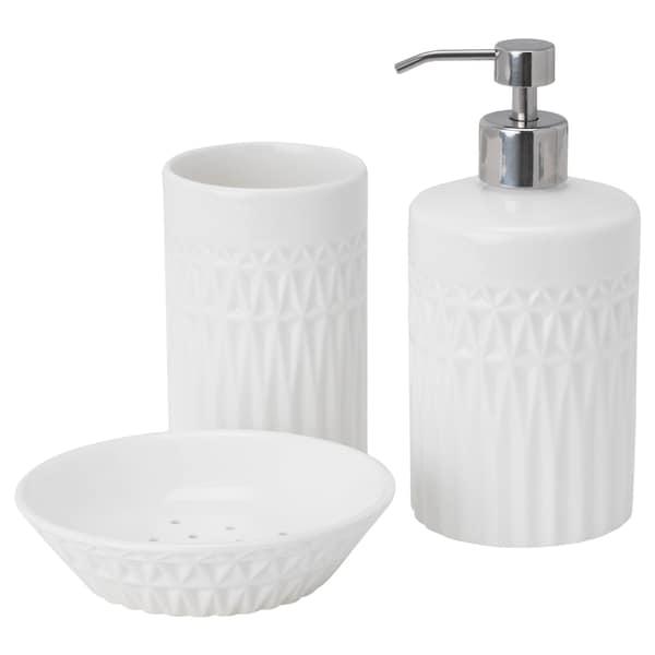 GAVIKEN Komplet łazienkowy, 3 szt., biały