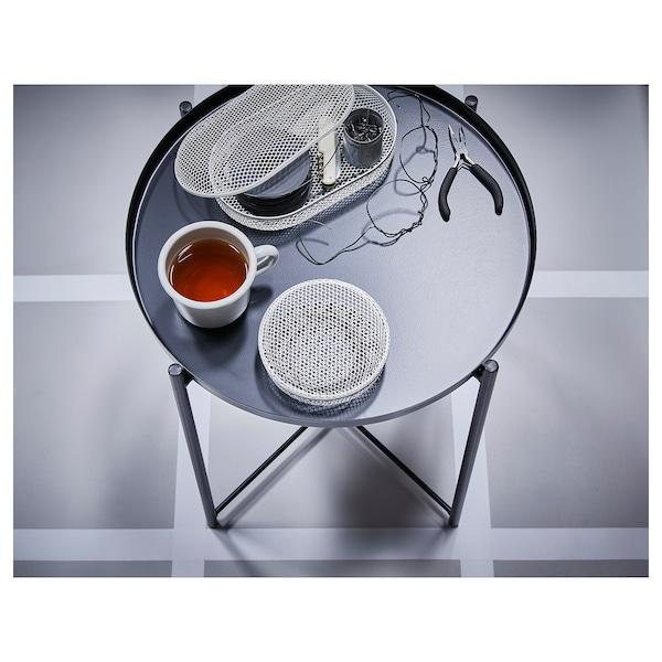 GLADOM Stolik z tacą, czarny, 45x53 cm