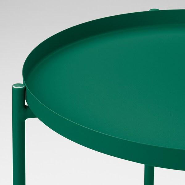 GLADOM Stolik z tacą, zielony, 45x53 cm