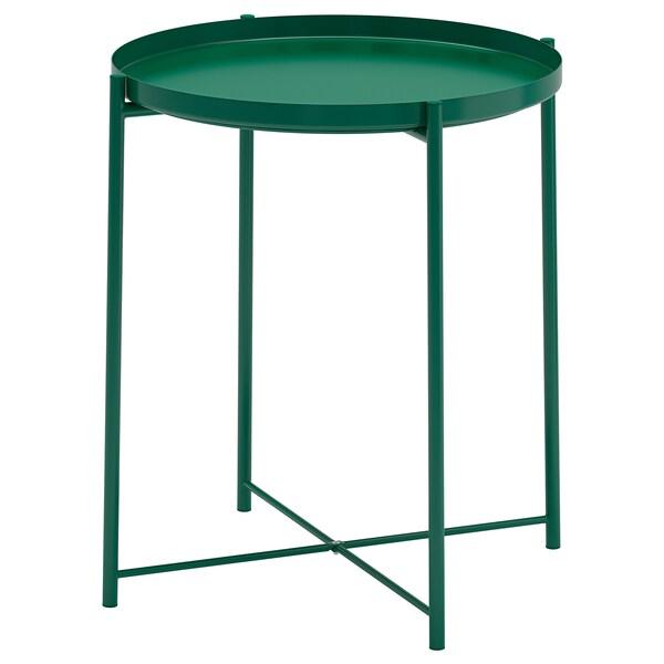 GLADOM stolik z tacą zielony 53 cm 45 cm