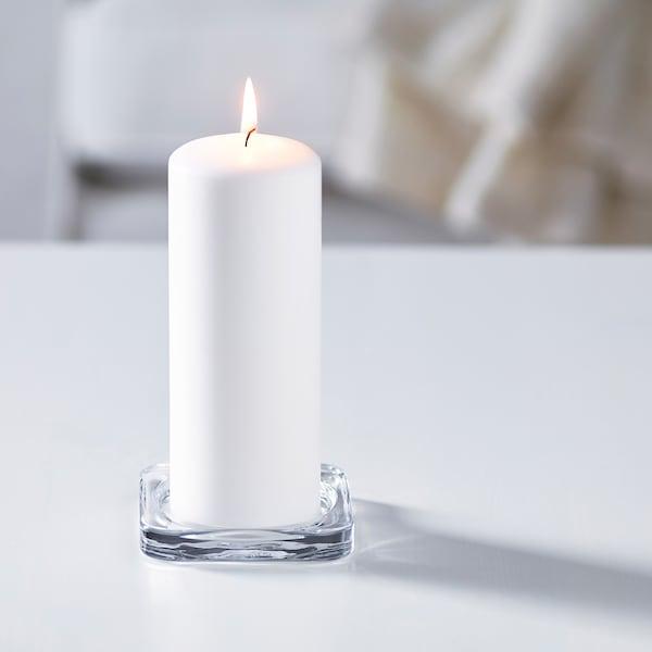 GLASIG Podstawka na świecę, szkło bezbarwne, 10x10 cm