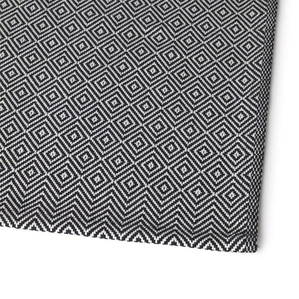GODDAG Bieżnik, czarny/biały, 35x130 cm