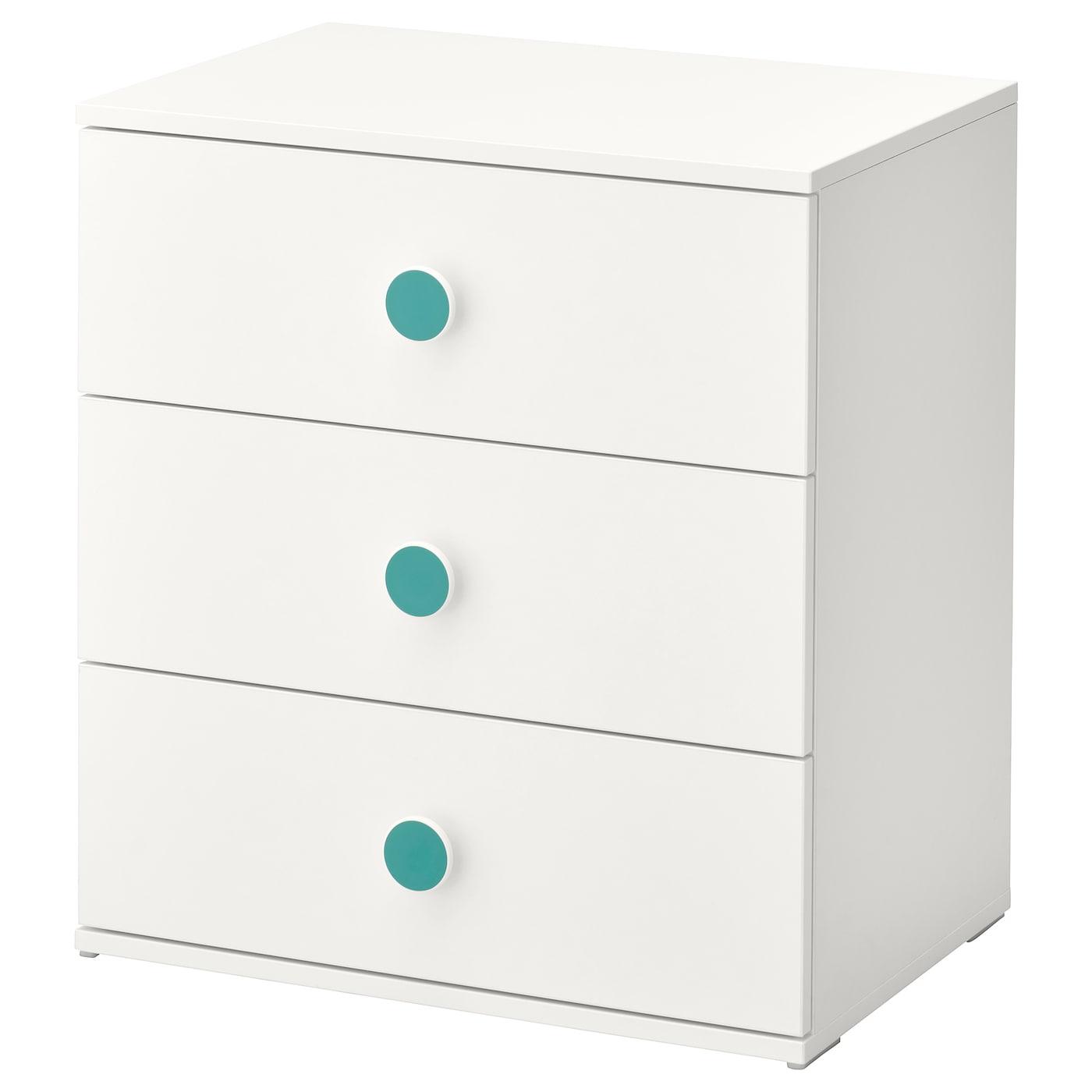IKEA GODISHUS Komoda, 3 szuflady, biały, 60x64 cm