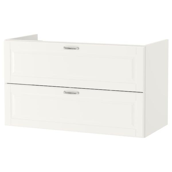 GODMORGON Szafka pod umywalkę z 2 szufladami, Kasjön biały, 100x47x58 cm