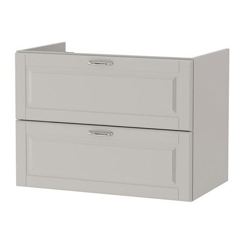 godmorgon szafka pod umywalk z 2 szufladami kasj n jasnoszary ikea. Black Bedroom Furniture Sets. Home Design Ideas