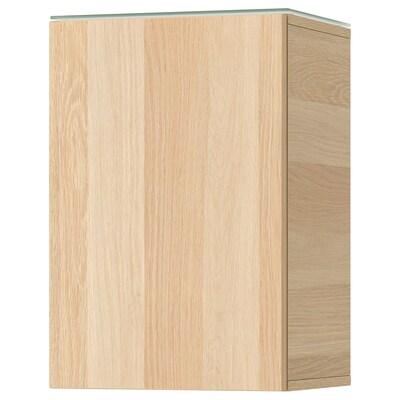 GODMORGON Szafka ścienna z drzwiami, dąb bejcowany na biało, 40x32x58 cm