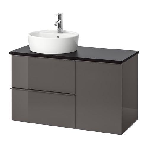 godmorgon tolken t rnviken szafka z umywalk 45 cm antracyt po ysk szary ikea. Black Bedroom Furniture Sets. Home Design Ideas