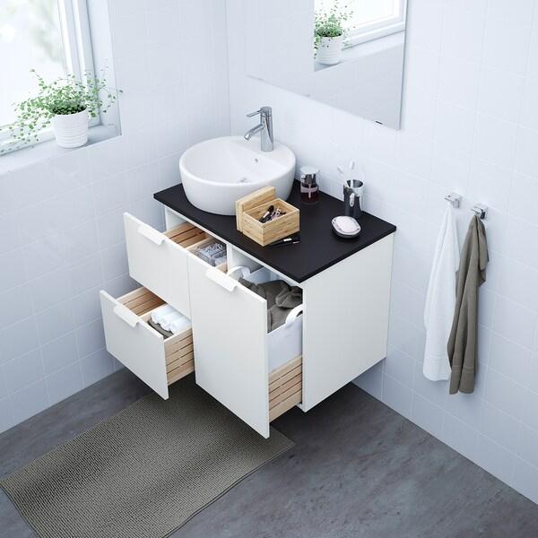 GODMORGON szafka pod umywalkę z 2 szufladami biały 40 cm 47 cm 58 cm