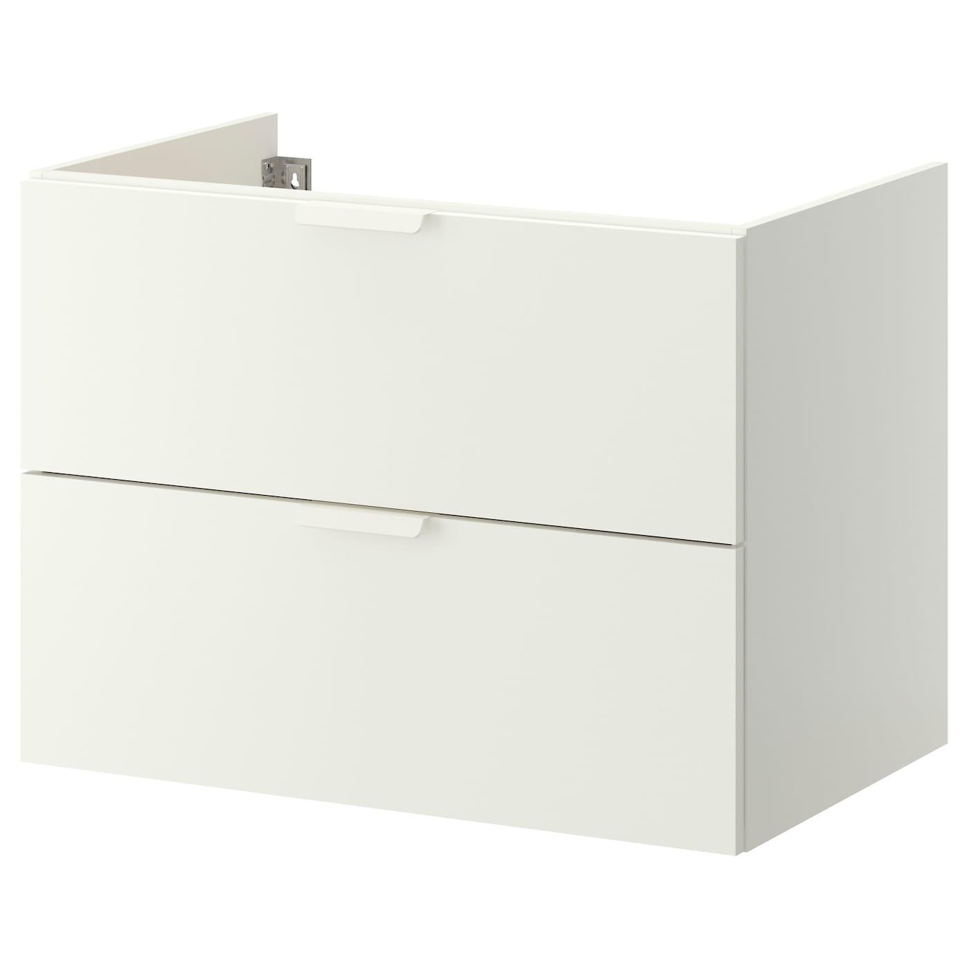 IKEA GODMORGON biała szafka pod umywalkę z dwiema szufladami, 80x47x58 cm