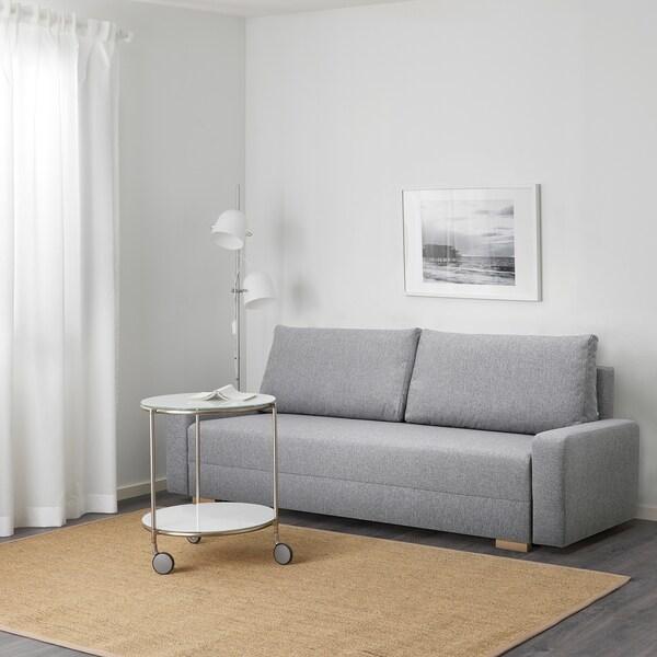 GRÄLVIKEN Rozkładana sofa 3-osobowa szary 225 cm 86 cm 74 cm 48 cm 43 cm 140 cm 195 cm