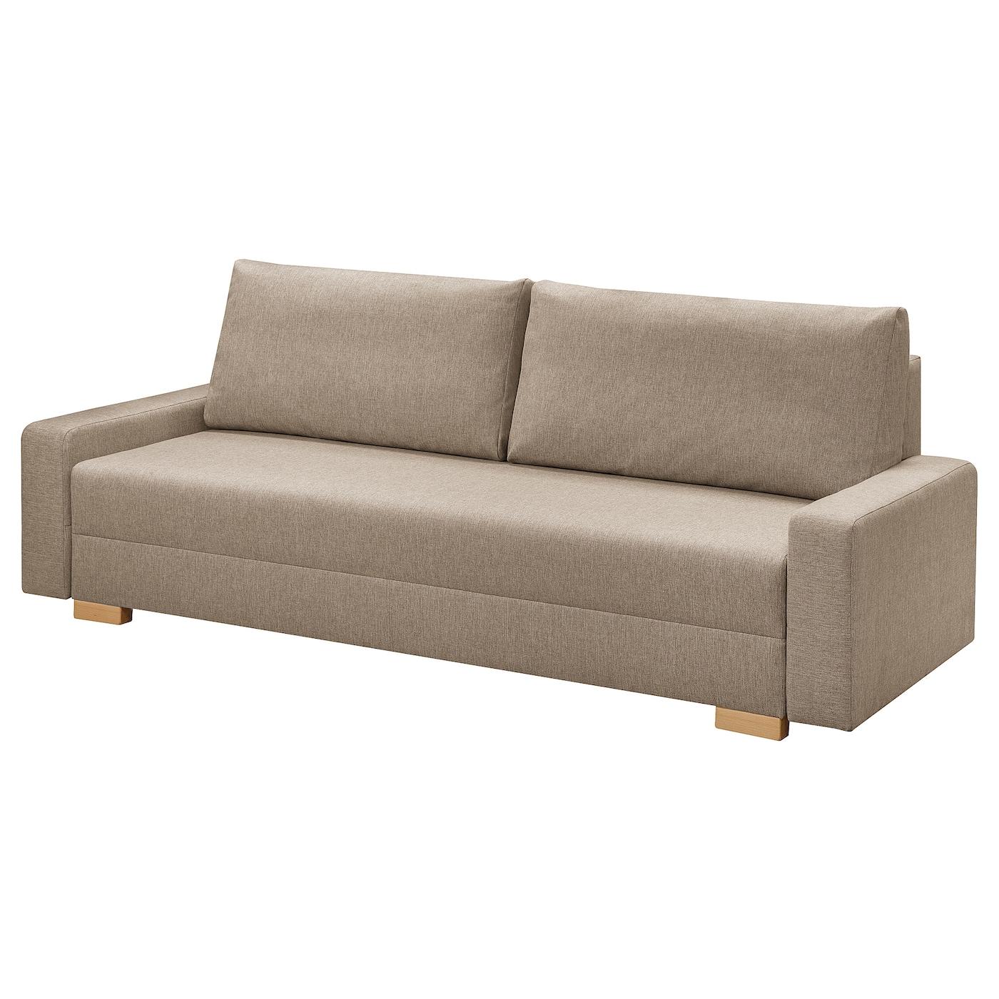 IKEA GRÄLVIKEN Rozkładana sofa 3-osobowa, beżowy
