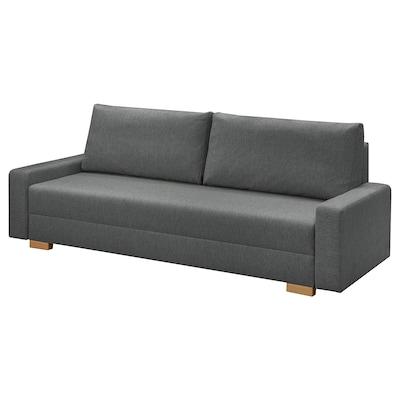 GRÄLVIKEN Rozkładana sofa 3-osobowa, ciemnoszary