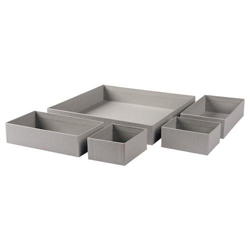 GRÅSIDAN pudełko, 5 szt. szary