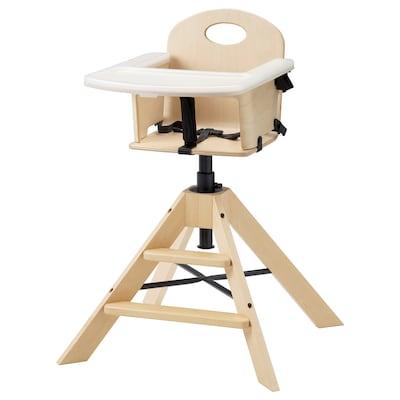 GRÅVAL Krzesło dziecięce/wysokie z tacą, brzoza