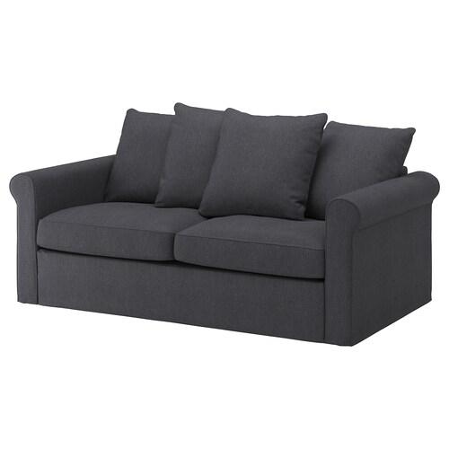 GRÖNLID sofa 2-osobowa rozkładana Sporda ciemnoszary 53 cm 104 cm 68 cm 196 cm 98 cm 60 cm 49 cm 140 cm 200 cm 12 cm