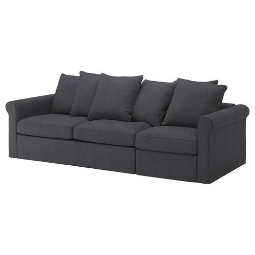 GRÖNLID Rozkładana sofa 3-osobowa Sporda ciemnoszary 53 cm 104 cm 68 cm 267 cm 98 cm 60 cm 49 cm 140 cm 200 cm 12 cm