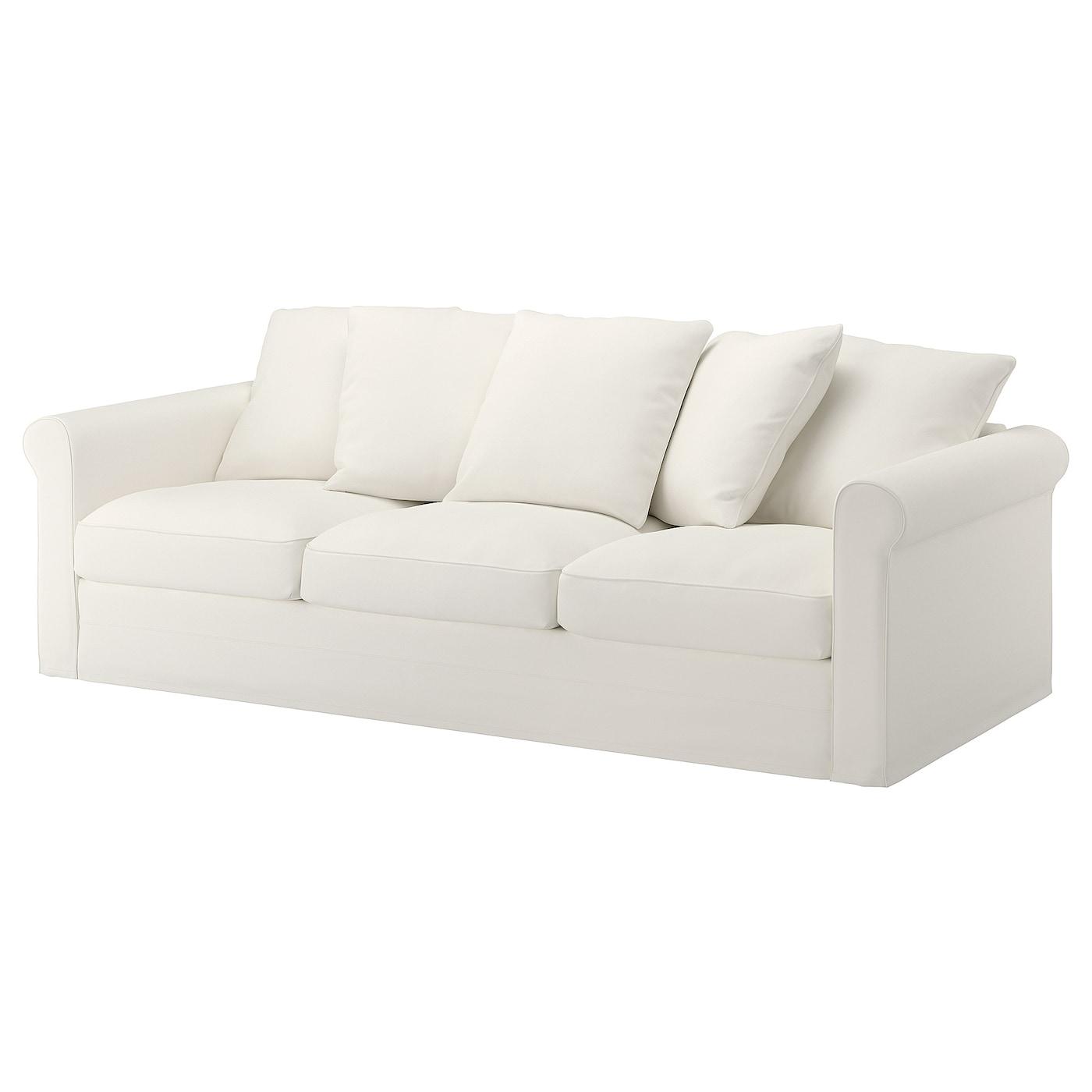 IKEA GRÖNLID biała sofa trzyosobowa