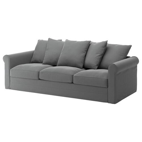 GRÖNLID sofa 3-osobowa Ljungen średnioszary 104 cm 247 cm 98 cm 7 cm 18 cm 68 cm 211 cm 60 cm 49 cm