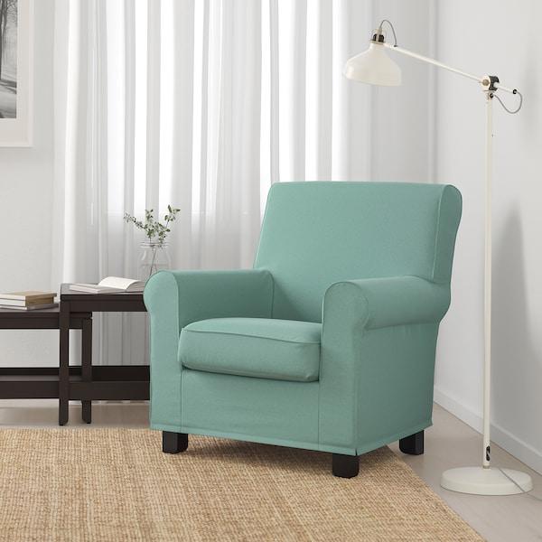 GRÖNLID Fotel, Ljungen jasnozielony