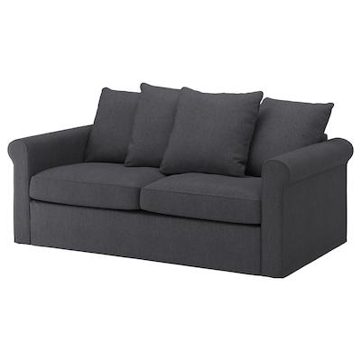 GRÖNLID Sofa 2-osobowa rozkładana, Sporda ciemnoszary