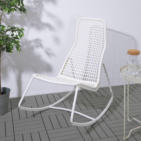 GUBBÖN Fotel bujany, wew/zew, biały