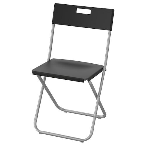 GUNDE krzesło składane czarny 100 kg 41 cm 45 cm 78 cm 37 cm 34 cm 45 cm