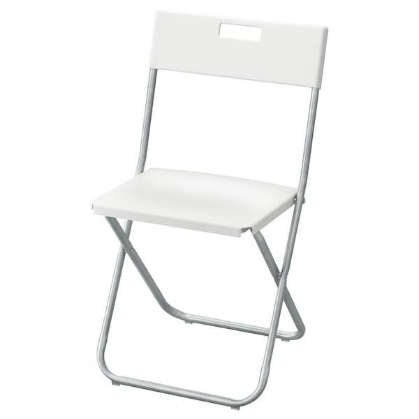 GUNDE Krzesło składane, biały