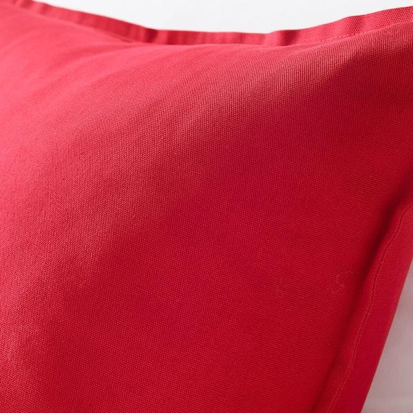 GURLI Poszewka, czerwony, 50x50 cm