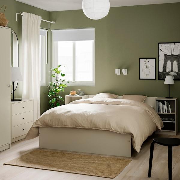 GURSKEN Zestaw mebli do sypialni 5 szt, jasnobeżowy