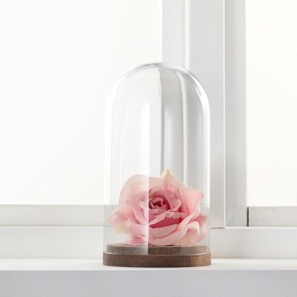 HÄRLIGA Kopuła szklana z bazą, szkło bezbarwne, 27 cm