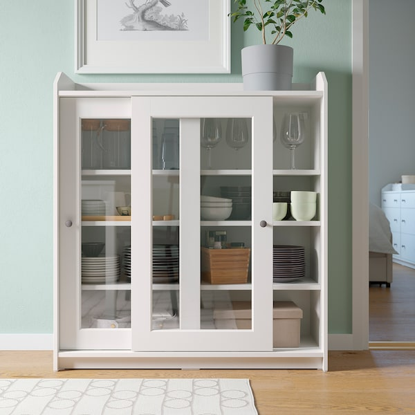 HAUGA Regał, biały, 244x46x116 cm