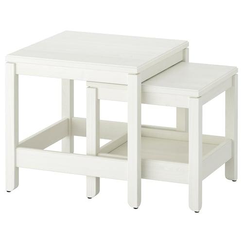 HAVSTA stoliki, 2 szt. biały