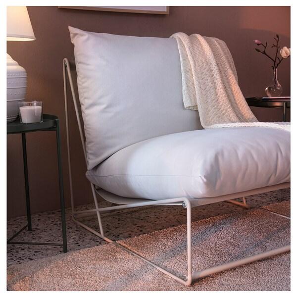 HAVSTEN Fotel, wewnątrz/na zewnątrz, beżowy, 83x94x90 cm