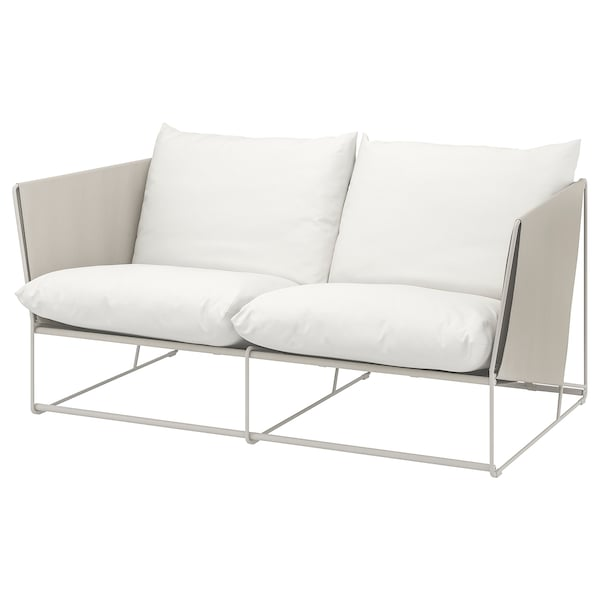 HAVSTEN Sofa 2-osobowa wewn/zewn, beżowy, 179x94x90 cm