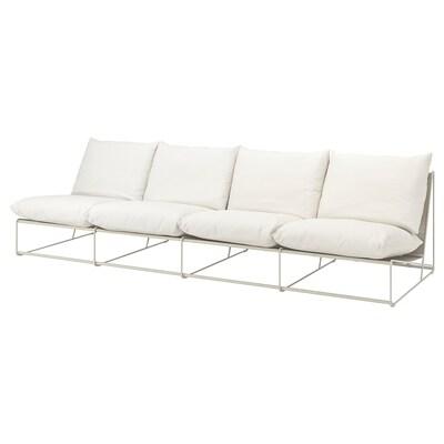 HAVSTEN Sofa 4-osobowa wewn/zewn, bez podłokietników/beżowy, 326x94x90 cm
