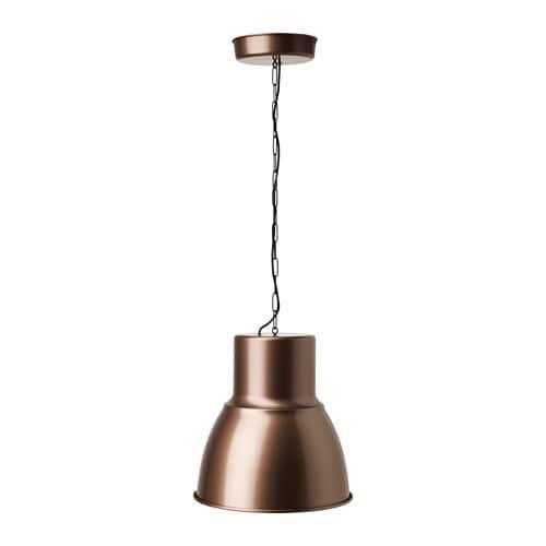 HEKTAR Lampa wisząca , brązowy Średnica: 38 cm Długość kabla: 140 cm Długość łańcucha: 110 cm