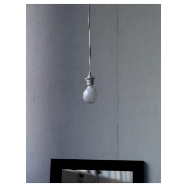 HEMMA Oprawka z kablem biały 1.8 m