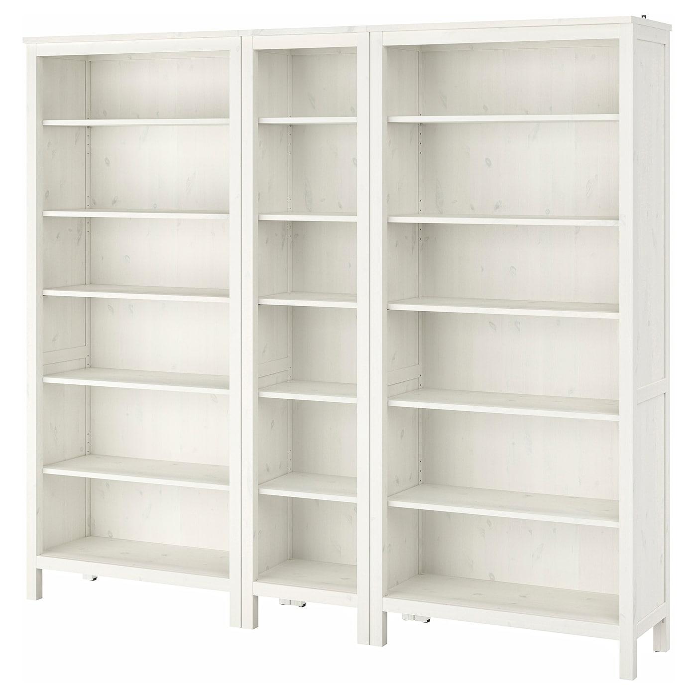 IKEA HEMNES biały, sosnowy regał, 229x197 cm