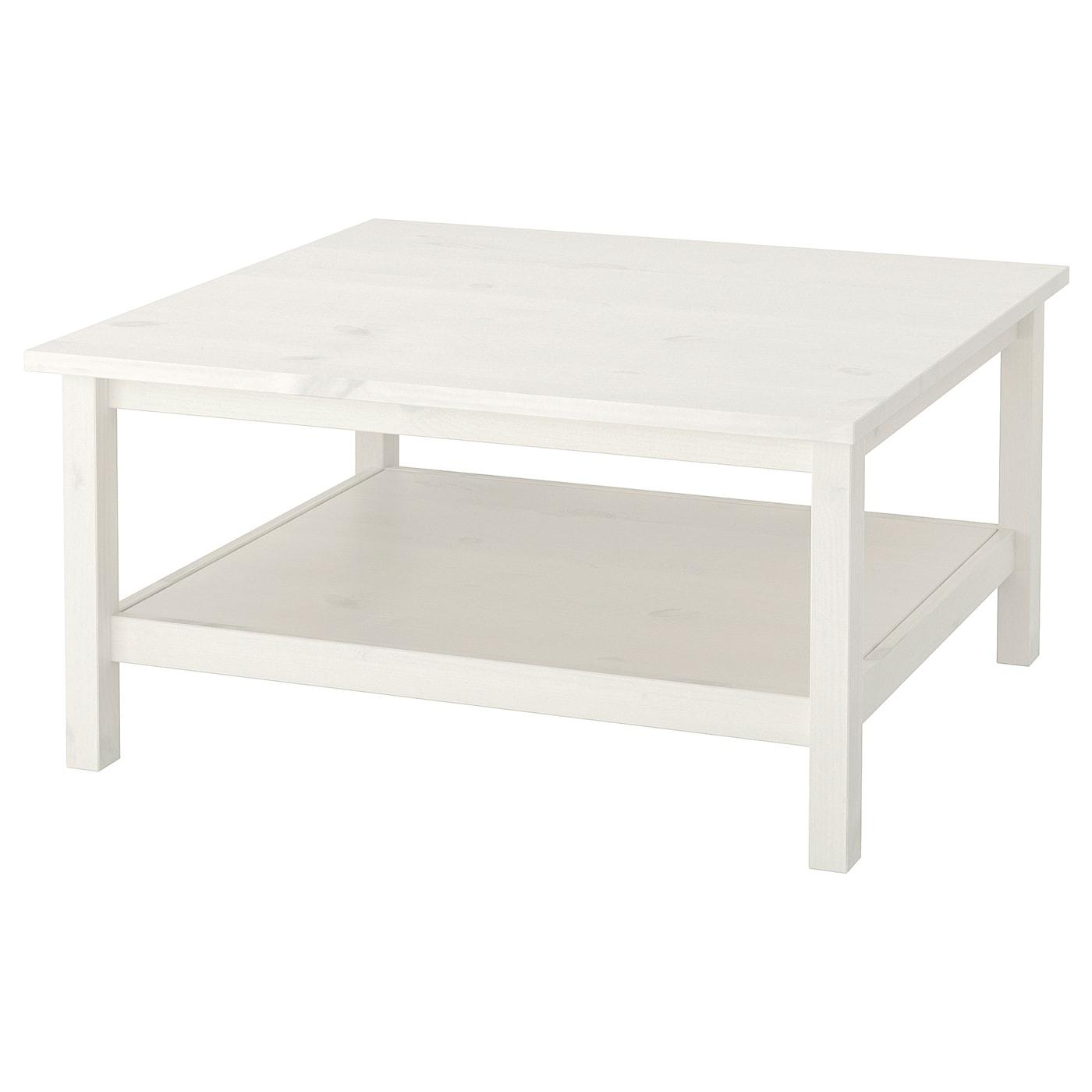 IKEA HEMNES biały, sosnowy stolik, 90x90 cm